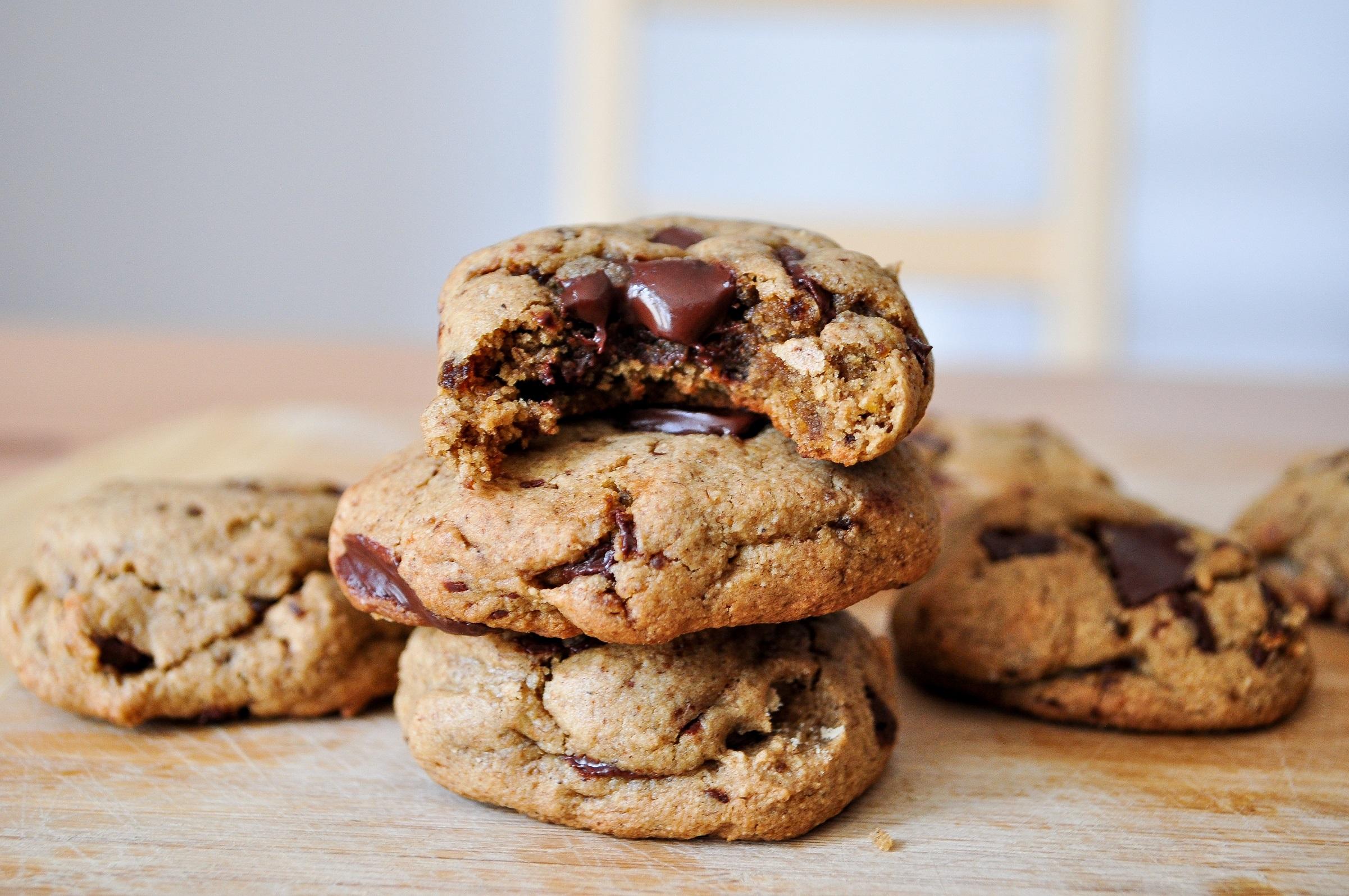 Cookies à la farine de noix tigrée
