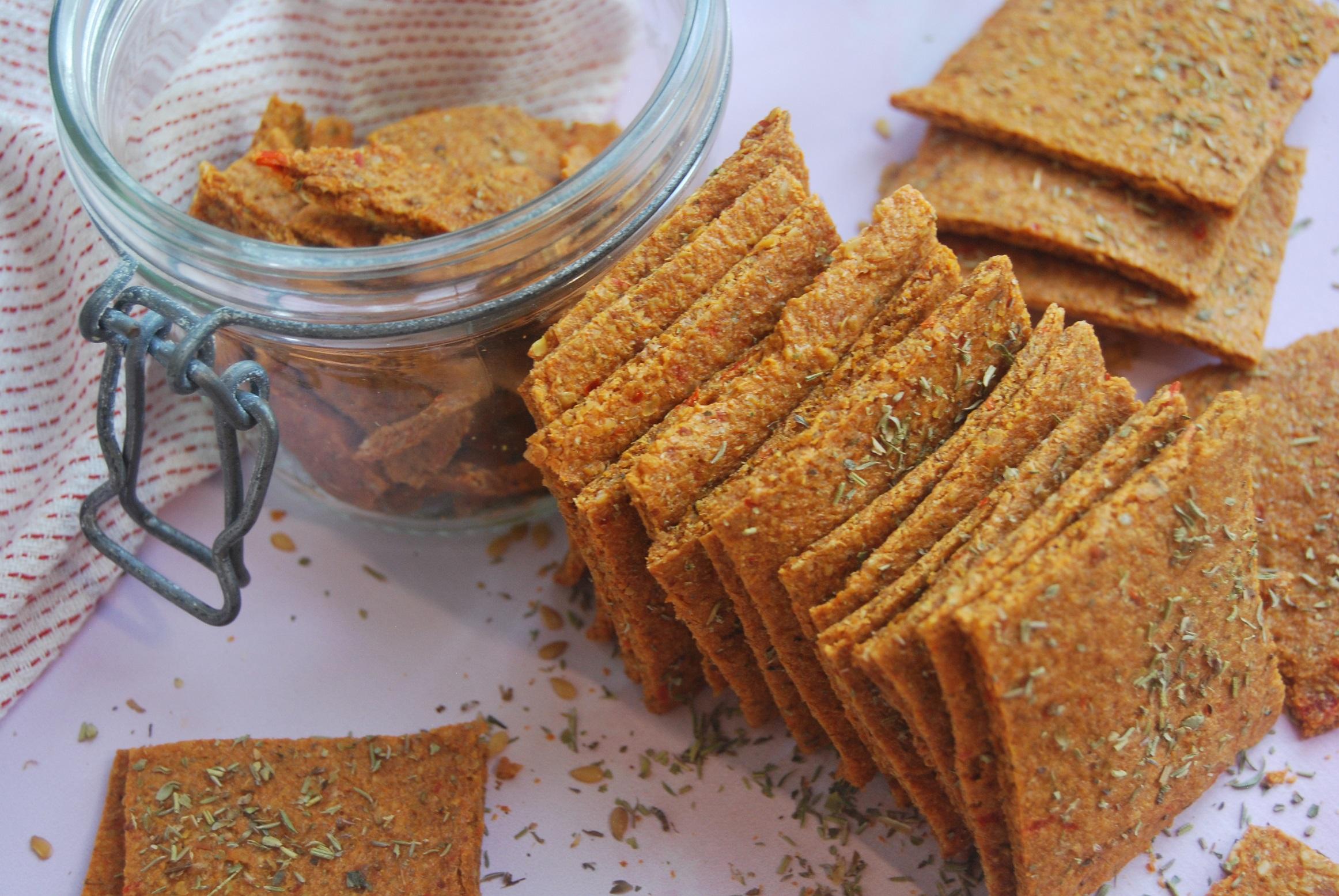 Crackers crus façon « pizza »