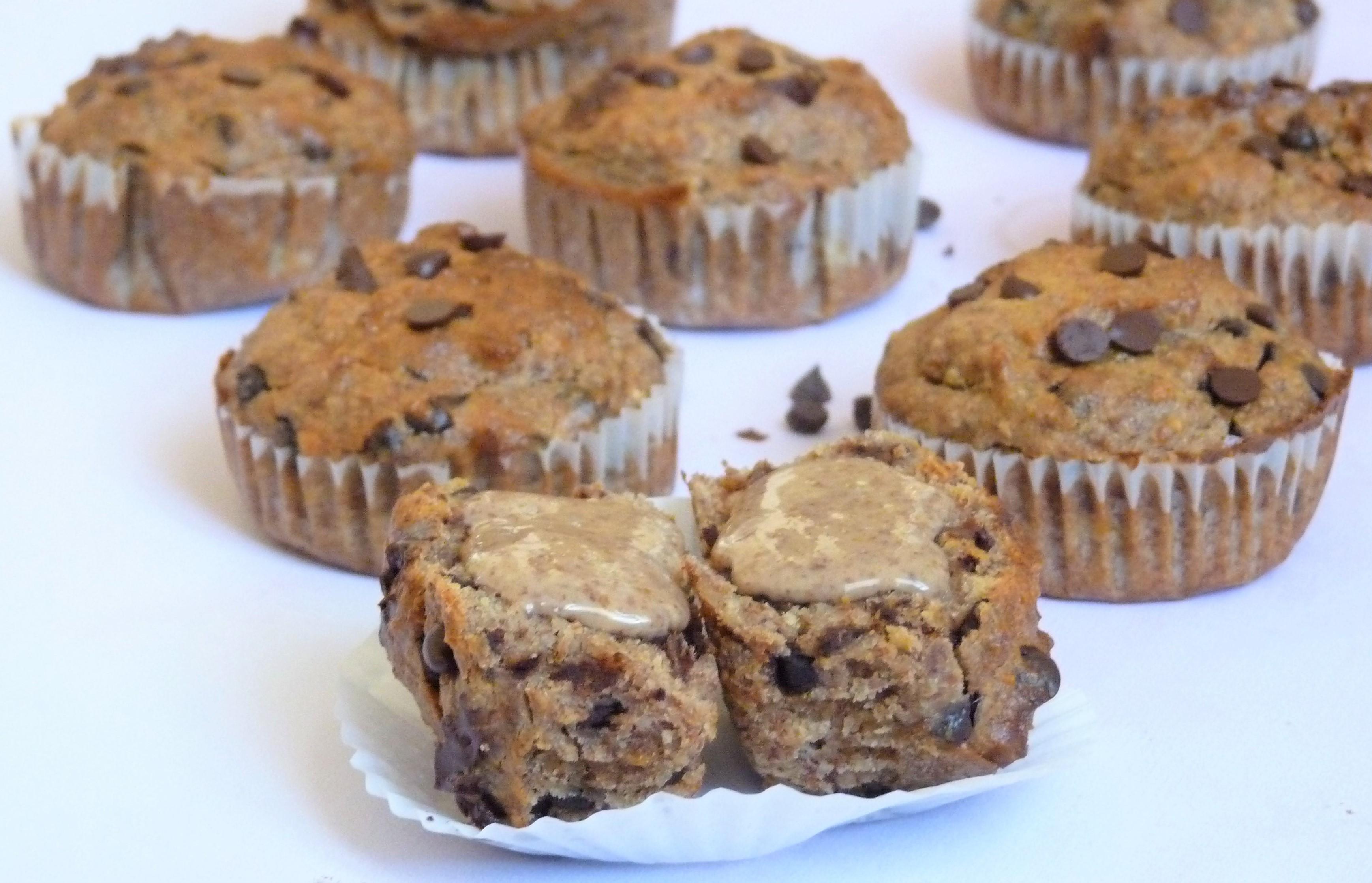 Muffin paléo aux pépites de chocolat