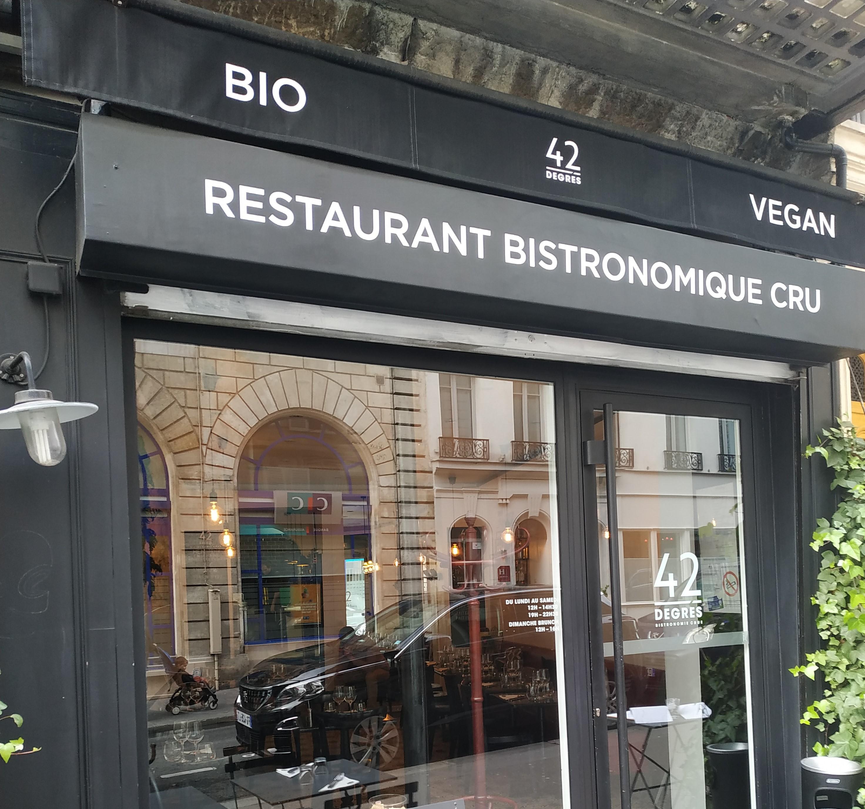 42 degrés : le restaurant 100% cru et bio.